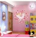 Lovely Girl and Flower Pattern Heart Shaped Wall Stickers