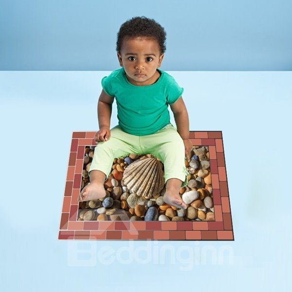 Specialty Pebble and Shell Pattern Removable Wall Stickers