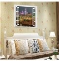Funny Fairground Night Window Scenery Removable Wall Stickers