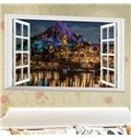 Decorative Volcano and Castle Pattern Removable Wall Stickers