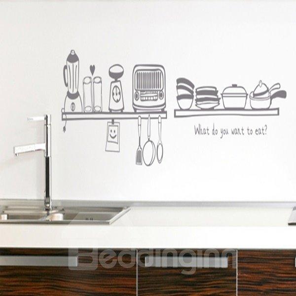 Simple Style Kitchen Utensils Pattern Wall Stickers