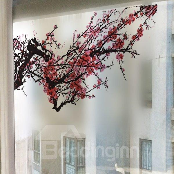 Gorgeous Decorative Plum Blossom Glass Wall Stickers