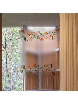 Wonderful Flower and Leaf Pattern Removable Wall Stickers