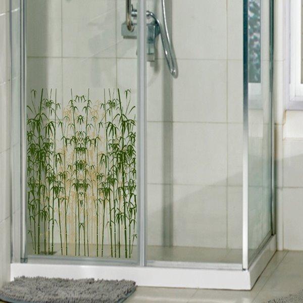 Modern Design Bamboos Pattern Glass Decoration Wall Stickers