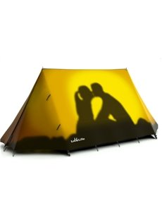 Couple under the Setting Sun Outdoor Tent with Two Layers Waterproof Camping 2-Person Tent