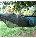 2-Person Nylon Taffeta Professional Outdoor Camping Hammock with Mosquito Net