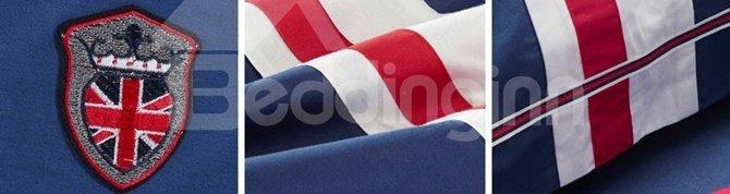 100% Woven Cotton Simple Stripe Design 4-Piece Duvet Cover Sets