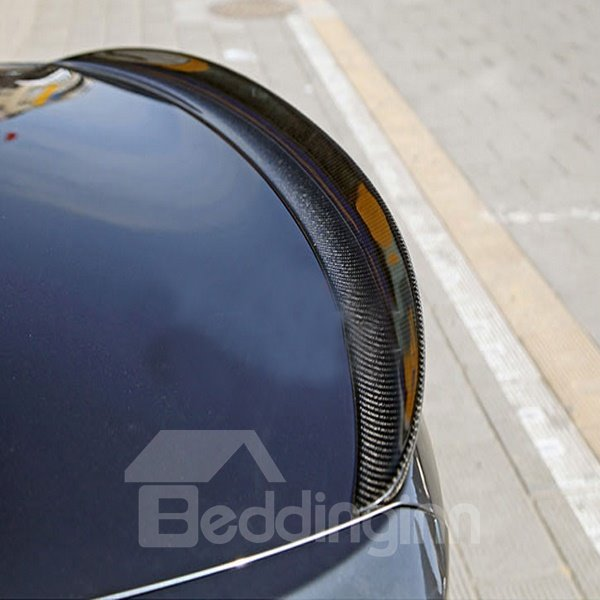 Sport Curved Design Carbon Fiber Rear Trunk Boot Lip Spoiler
