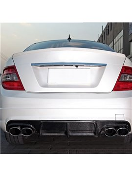 Classic Magic Black Sport Design Carbon Fiber Rear Diffuser