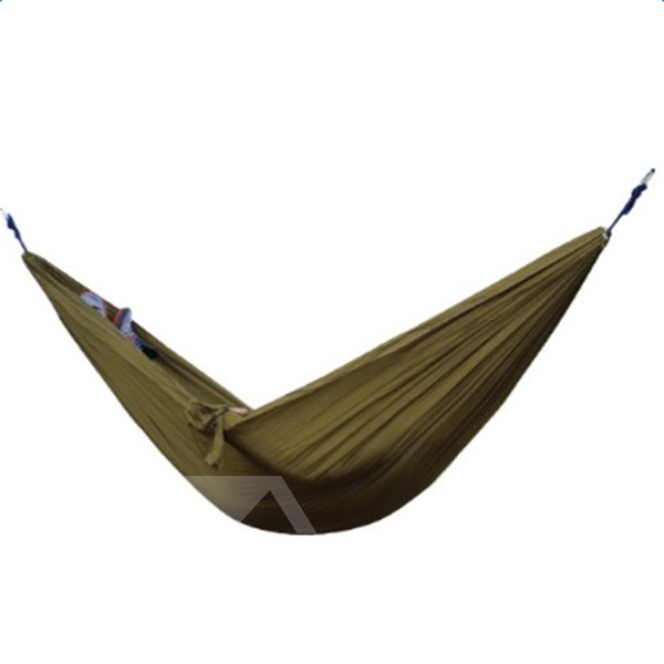 Solid Color 2-Person Outdoor Durable Camping Widened Hammock