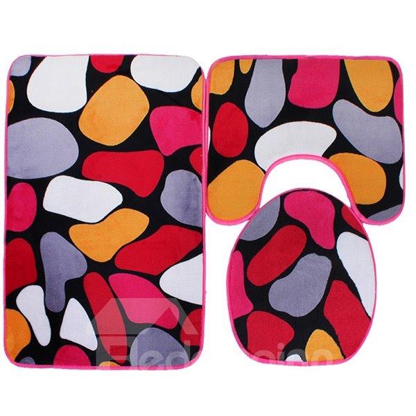 Designer Color Block Caroset 3D Printing 3-Piece Toilet Seat Cover