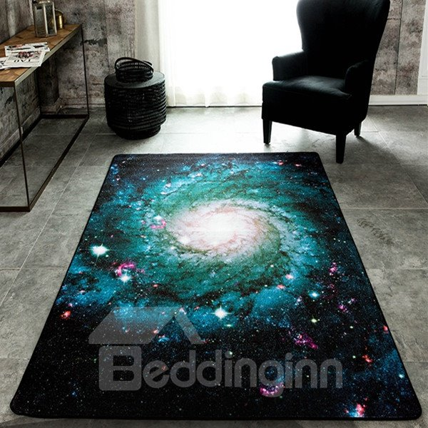 Sparkling Rectangle Universe Planet Pattern Waterproof And