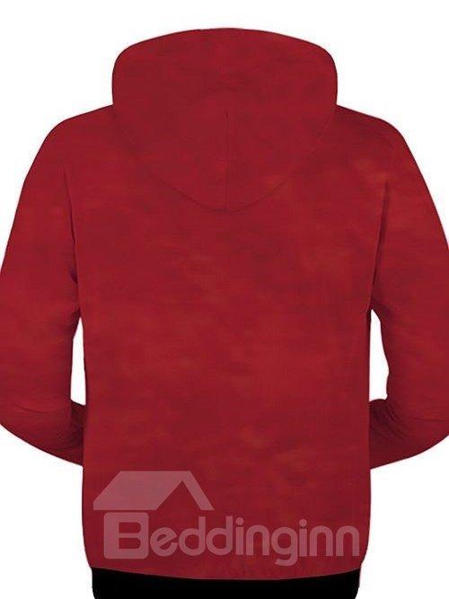 Long Sleeve Zip-Front Cobra Pattern 3D Painted Hoodie