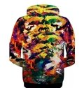 Multicolor Long Sleeve 3D Painted Tiger Face Pattern Zipper Hoodie for Men