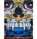 Colorful Long Sleeve 3D Painted Cartoon Skull Pattern Zipper Hoodie for Men