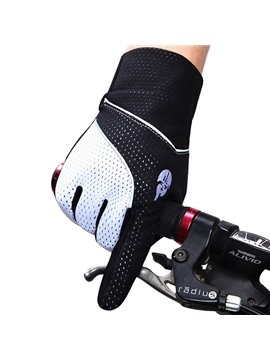 Unisex Outdoor Full Finger Road Bike Gloves with SBR Pad Anti-seismic Cycling Gloves