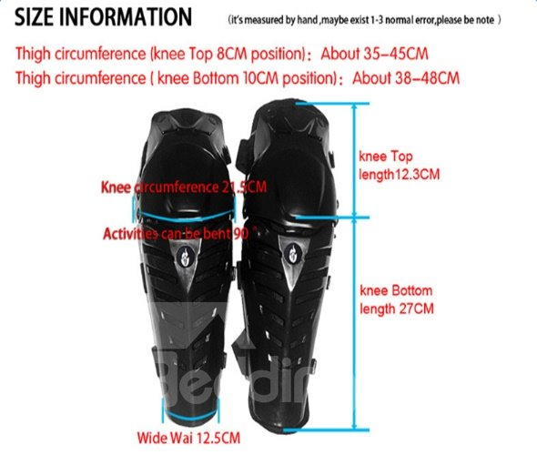 Unisex Motorcycle High with Detachable Lining Density ABS Cycling Kneecap