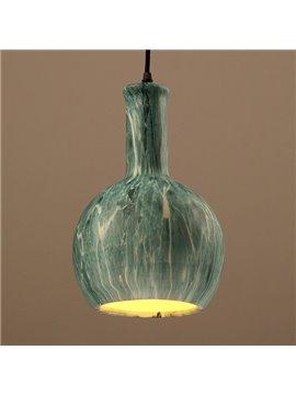 Green Iron Bottle Shape Home Decorative Pendant Light