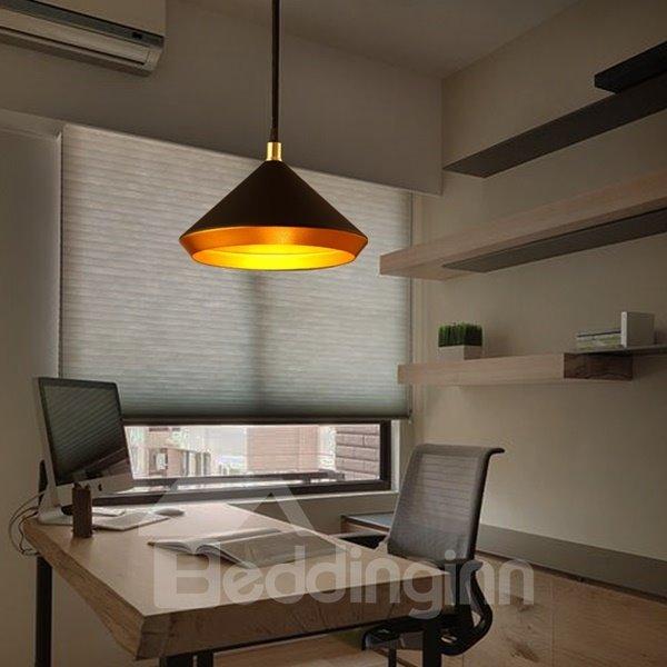 Black Iron Funnel Shape Decorative Pendant Light