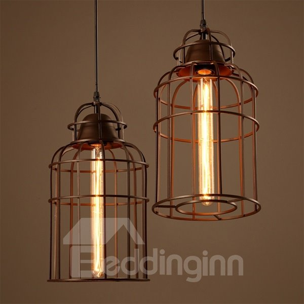 Unique Design Iron Birdcage Shape Pendant Light