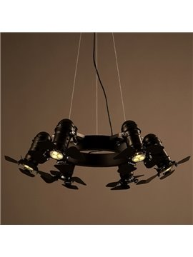 Professional Iron Frame 5 Bulb Holders Fan Pendant Light