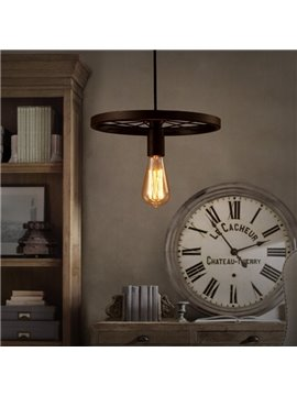 Wonderful Iron Frame Wheel Shape Decorative Pendant Light