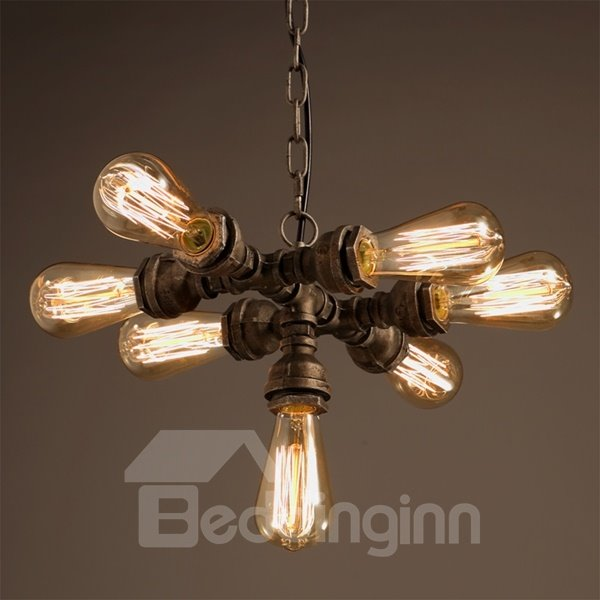 Classical European Style Iron Frame 7 Lights Chain Pendant Light