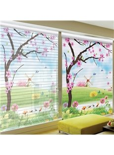 Clip Art Beautiful Village Printing Polyester Shangri-La Blind & Roller Shades