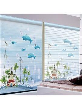 Wonderful Underwater World Printing Polyester Shangri-La Blind & Roller Shades