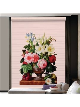 Gorgeous Flower Bouquet in the Vase Printing 3D Shangri-La Blinds & Roller Shades