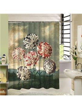 Colored Hydrangea Printing 3D Bathroom Decor Shower Curtain
