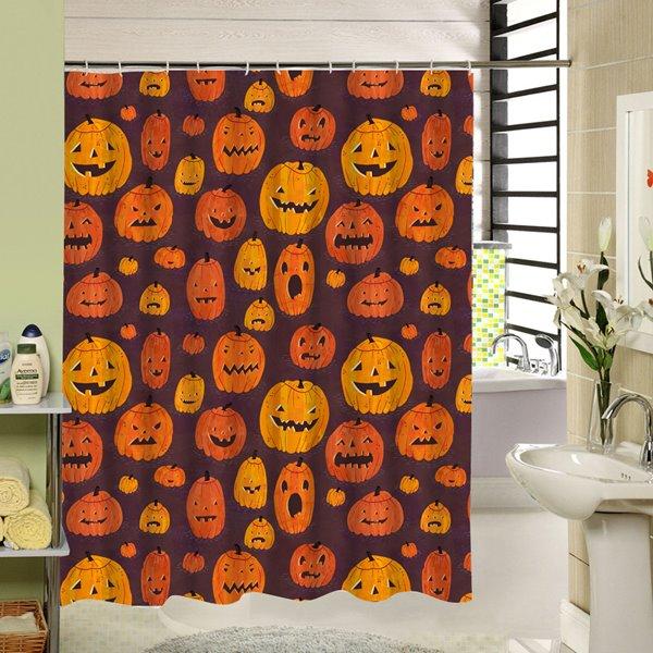 Various Hand Painted Pumpkin Lanterns Printing Bathroom Shower Curtain