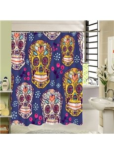 Beautiful Colored Skull Printing 3D Shower Curtain