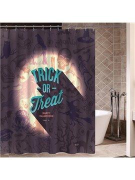 Cute Trick or Treat Theme 3D Printing Waterproof Shower Curtain
