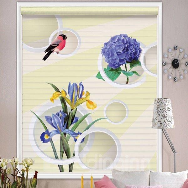 Lovely Lark and Purple Flowers Printing Shangri-La Blind & Roman Shades