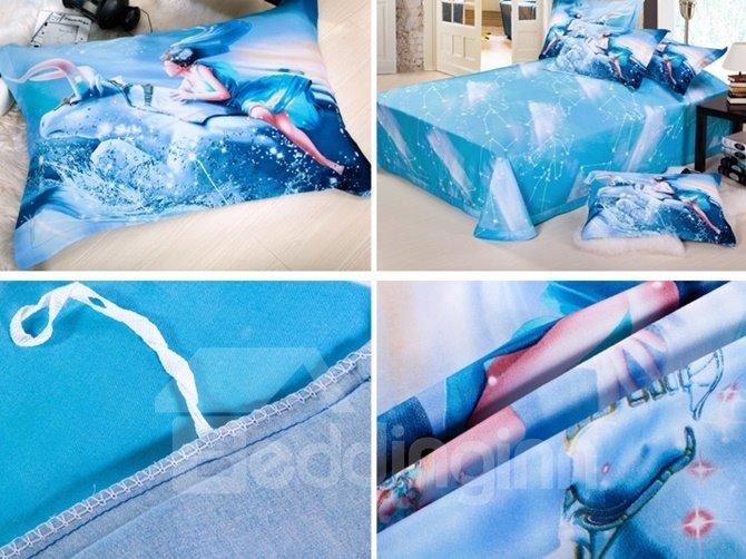 Stylish Taurus 3D Printed 4-Piece Cotton Duvet Cover Sets