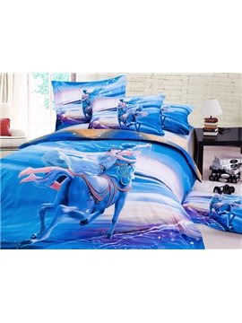Impressing Sagittarius 3D Printed 4-Piece Cotton Duvet Cover Sets