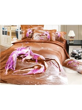 Creative Design Cancer 4-Piece 3D Printed Cotton Duvet Cover Sets
