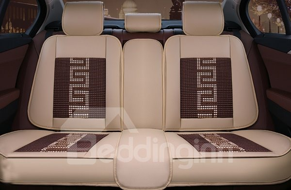 Classic Business Style And Leather Material Universal Car Seat Cover