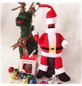 Exquisite Festival Christmas Decoration Santa Claus Cloth Pattern Wine Tote Bag