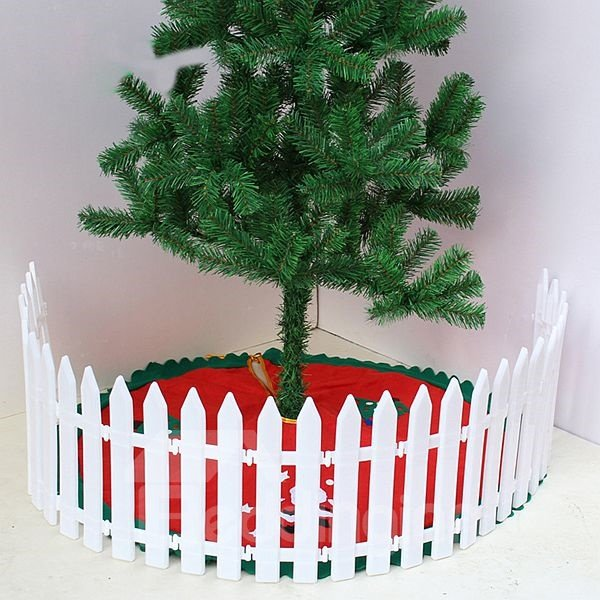 Exquisite Festival Christmas Tree Fence in White