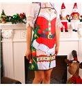 Concise Festival Christmas Santa Claus Pattern Apron