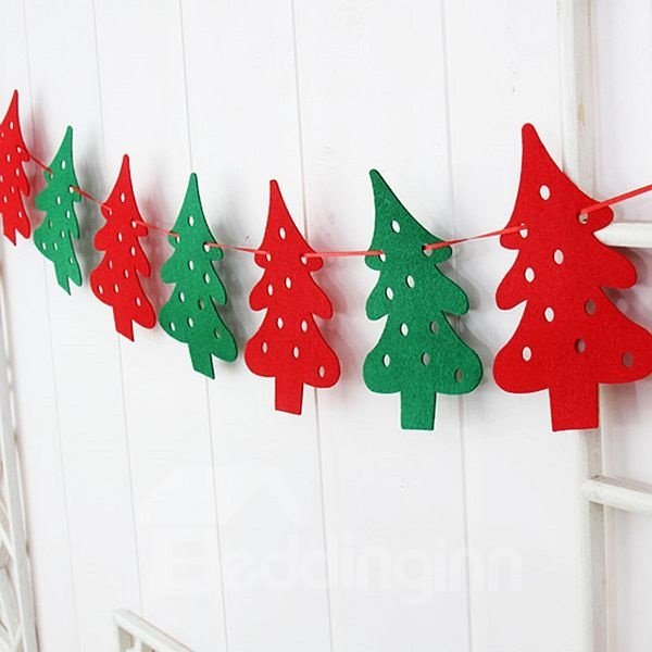 Festival Christmas Decoration Linked Flag Six Patterns for Choose