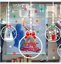 Lovely Festival Christmas Decoration Christmas Ball Pattern Wall Sticker