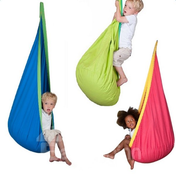 Kids Outdoor and Indoor Hammock with Air Cushion Cotton Material Swing