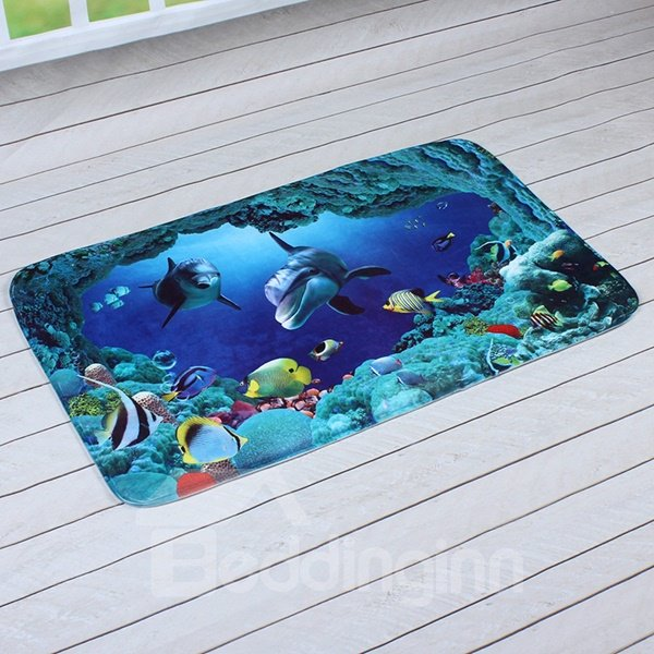 Amazing Sea World Printing 3D Skid Resistance Bath Rug