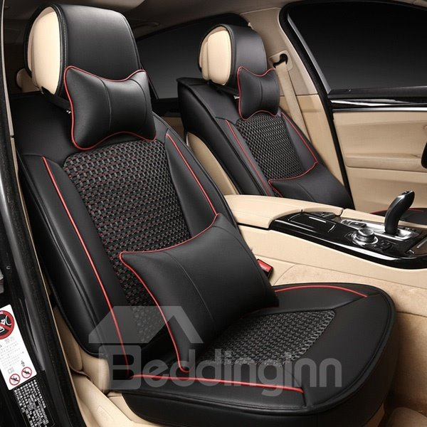 Luxurious Leather And Cool Ice Silk Material Beautiful Design Car Seat Cover