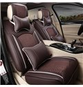 Cool Ice Silk And Durable Leather Material Mixed Charming Universal Car Seat Cover