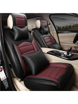 Strong Visual Impact Classic Contrast Color Leather Universal Car Seat Cover