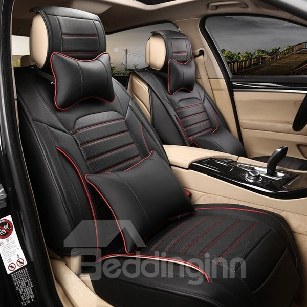 Cool Mash Up Design Cost-Effective Leather Five Car Seat Cover